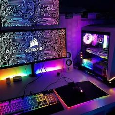 The Coolest PC Gaming Setups! StogaTech for Gamers to Enjoy Better. The Coolest PC Gaming Setups! StogaTech for Gamers to Enjoy Better. Gaming Computer Setup, Computer Desk Setup, Best Gaming Setup, Gamer Setup, Gaming Room Setup, Pc Setup, Cool Gaming Setups, Computer Diy, Gaming Pcs