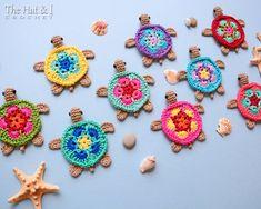 CROCHET PATTERN Tiny Turtles crochet turtle by TheHatandI