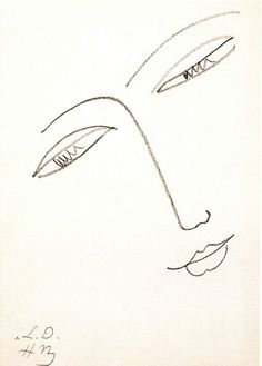 Henri Matisse Line drawing, doesn't matter that he scribbled the eyes, it fabulous. Scribbling the eyes makes it so much more interesting.