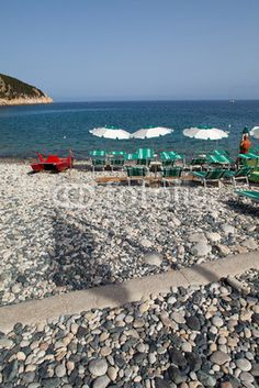 Stock photo available for sale at Fotolia: Beach At Marciana Marina, Elba Island, Italy