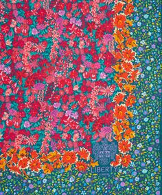 Liberty London Pink Floral Medley Silk Scarf | Silk Scarves by Liberty London | Liberty.co.uk