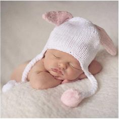 Kissy Pink Bunny Baby Girl and Toddler Hat #Melondipity