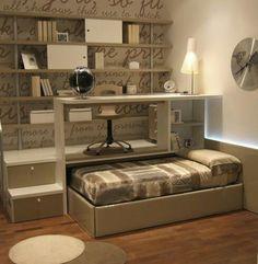 침실 구석 활용 디자인 창의적인 스토리 상자 소형 공간에서 실용적인 수납 공간 더하기 침실이 하나가 된아늑한 디자인 현대적인 디자인 구도적 인테리어 책상까지 완벽구조 공간활용 완벽