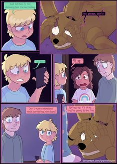 Springtrap and Deliah (Page 163) (Light Ending) by GraWolfQuinn