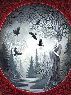 """The Goddess Macha and the Unkindness of Ravens"" par Emily Balivet"