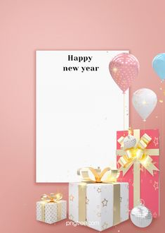 celebrate new year white square gift balloons pink background Pink Background Images, Balloon Background, Watercolor Background, Love Balloon, Balloon Gift, Valentines Day Background, Birthday Background, New Year Typography, Happy New Year Gift