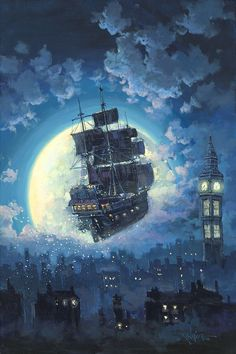 Sailing Into The Moon by Rodel Gonzalez
