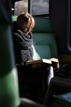 "In a train.... ""Many people, myself among them, feel better at the mere sight of a book.""  ― Jane Smiley, Thirteen Ways of Looking at the Novel"