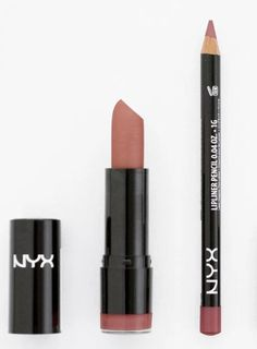 Love this nude with a slight pink color. NYX 529 THALIA LIPSTICK NYX 831 MAUVE LIP LINER