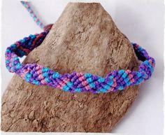 Armband ☼ Freundschaftsband ☼ Ziggy ☼ lila ☼türkis von Sunnseitn Kunsthandwerk auf DaWanda.com