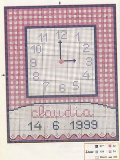 Hama Beads, Small Clock, Stitch 2, Plastic Canvas, Cross Stitch Patterns, Needlework, Sewing Projects, Embroidery, Granny Squares