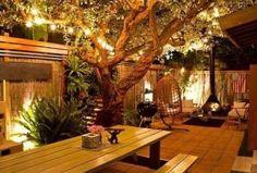 42 Terrace Garden Design With Beautiful Lighting Ideas, Small Patio Spaces, Small Backyard Patio, Diy Patio, Backyard Landscaping, Patio Ideas, Garden Ideas, Backyard Ideas, Terrace Garden Design, Patio Design