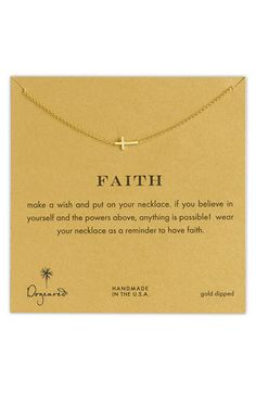 dogeared 'reminder - faith' pendant necklace
