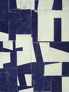 Indigo / white / abstract