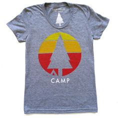 "Simple ""Camp"" Greay T-Shirt"