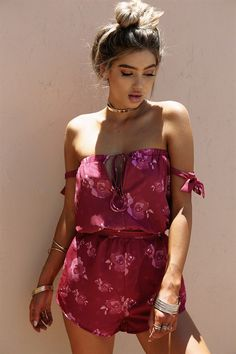 1c34270ce13 Pinot Trixie Playsuit  SABOSKIRT Strapless Playsuit
