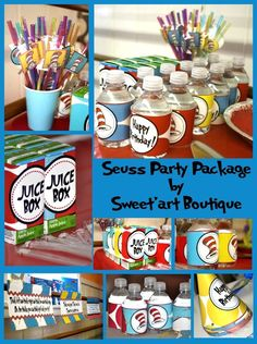 Dr Suess Party Package with diy printables