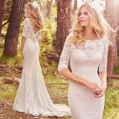 Maggie Sottero 'McKenzie' size 12 new wedding dress front/back views on bride Wedding Dresses For Sale, Boho Wedding Dress, Bridal Dresses, Wedding Gowns, Lace Wedding, Maggie Sottero Wedding Dresses, Wedding Trends, Wedding Ideas, Wedding Styles