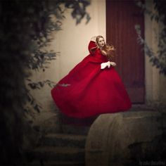 Gorgeous image!  I know a little girl who would adore this red cloak...  *** by Anka Zhuravleva, via 500px