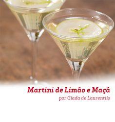 Além de bonito, esse Martini de Limão e Maçã é uma delicia e não demora nada para ser feito. Veja como fazer.