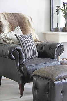 great leather chair for feature in foyer