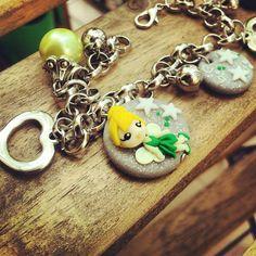 Bracelet Trilli of Peter Pan #trilli #peterpan #bracelet #fimo #polymerclay #handmade  www.frypperi.it - www.facebook.com/frypperi