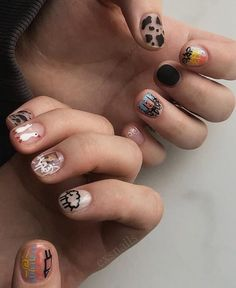 Edgy Nails, Swag Nails, Mens Nails, Fingernails Painted, Cow Nails, Minimalist Nails, Best Acrylic Nails, Dream Nails, Manicure And Pedicure