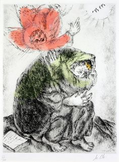 Marc Chagall, Isaiah's Prayer#art #artists #chagall #MarcChagall #Marc-Chagall #Jewish