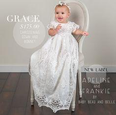 5be7400b4c81 Grace Christening Gown   Bonnet