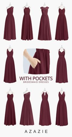 Bridesmaid dresses - The color of burgundy and cabernet is always popular in fall wedding Get inspiration for your fall wedding color schemes at Azaize com wedding weddinginspiration bridesmaids bridesmaiddress brid Bridesmaids And Groomsmen, Wedding Bridesmaid Dresses, Burgundy Bridesmaid Dresses, Affordable Bridesmaid Dresses, Fall Wedding Colors, Burgundy Wedding, Dream Wedding, Wedding Day, The Dress