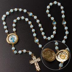 Terço Nossa Senhora da Paz de Medjugorje com Pedras em Cristais - Nossa  Sagrada Família 619539addf