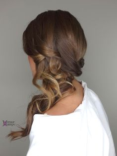 Bridal hair, Wedding hair, Hairstyles, Atlanta hairstylist, romantic hairstyle, hairstyle ideas, sideupdo, soft curls to the side, prom hairstyles