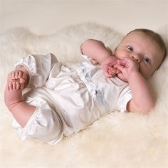 Infant Boy Jumpsuit - Tim Christening & Baptism Collection