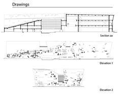 (Khim) Khim Pisessith - The section and elevation of Ningbo Historic Museum; Wang Shu, Amateur Architecture Studio