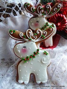 Christmas Biscuits, Christmas Sugar Cookies, Christmas Sweets, Christmas Cooking, Noel Christmas, Holiday Cookies, Gingerbread Cookies, Reindeer Cookies, Christmas Cakes