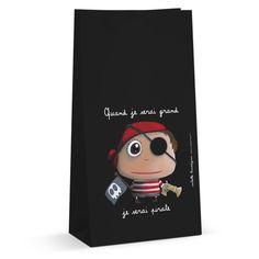 """Sachets à bonbons """"Quand je serai grand, je serai Pirate"""" - Le coin des créateurs #isabellekessedjian #lecoindescreateurs #feteenfant #decoanniversaire #guirlande #fanions"""