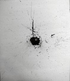 Óscar Segrelles. 'Untitled (negro sobre blanco oscuro)'. Acrílico sobre tabla. 50x61cm. 2015.