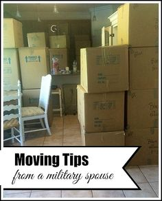 Moving tips from a military spouse:  part 2 of a series and packed with some very helpful ideas!