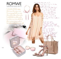 """""""Apricot dress!"""" by mery-2601 ❤ liked on Polyvore featuring Romeo + Juliet Couture"""