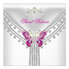 Sweet 16 Sixteen Pink White Butterfly Personalized Invite We provide you all shopping site and all informations in our go to store link. You will see low prices onReviewHere a great deal...
