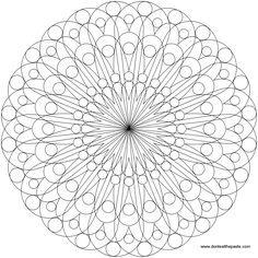 geometric mandala to color- also available in a smaller size jpg