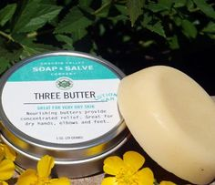 Three Butter Lotion Bar- moisturizing rich cocoa, shea and mango butters!
