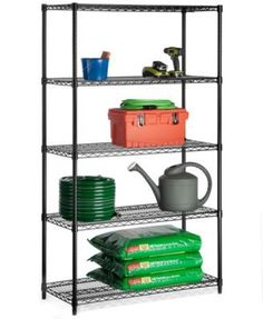trinity 5 tier outdoor wire shelving rack 48 x 18 x 72 nsf rh pinterest com