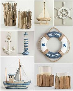 Beach Wedding U0026 Home Decor   Sunny Soirees Driftwood And Nautical Decor  Ideas