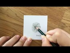 """Thank you card - Hand Lettering and the Zentangle® Pattern """"Wist"""" (Time Lapse / Speed Drawing) - YouTube"""