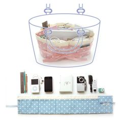 purse organizer    http://www.mochithings.com/products/roll-purse-organizer/89