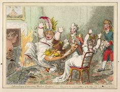James Gillray's Satirical Prints on the Impeachment of Warren Hasting (late 18th century) - The British Library.