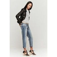 Current/Elliott the boyfriend jean in super loved features classic boyfriend jeans with five pocket styling and light fading for a worn feel – find it online only at TheDreslyn.com; free shipping and handling Love all the pieces!