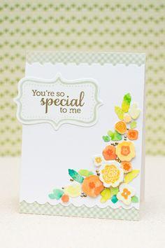 Mini Blooms -beautiful card - great tutorial