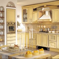 Stunning French Country Style Kitchen Decor Ideas 03 – Home Design Country Kitchen Cabinets, Kitchen Cupboard Designs, Country Kitchen Designs, Custom Kitchen Cabinets, Painting Kitchen Cabinets, Interior Design Kitchen, Kitchen Ideas, Kitchen Cupboards, Kitchen Pictures
